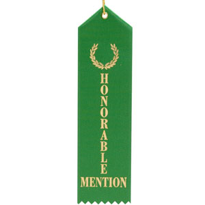 Honorable Mention Award Ribbon with card   Ribbons with ...   Honorable Mention Trophy