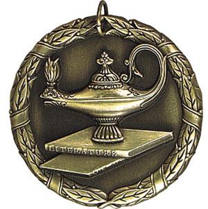 Gold Lamp Of Knowledge Medal Nu Image Engraving Amp Awards